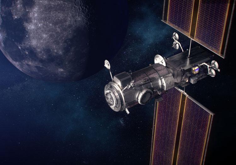 Окололунная станция в представлении художника (NASA)