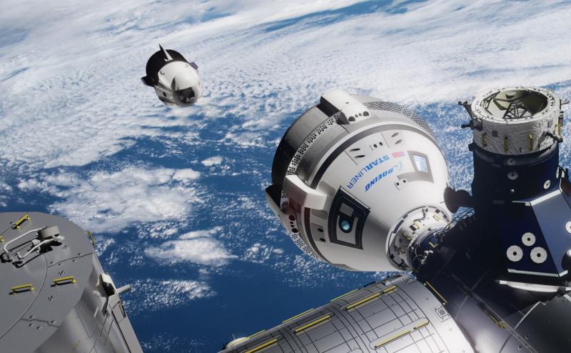 Реальным конкурентом корабля Crew Dragon был CST-100 Starliner. Графика с сайта nasaspaceflight.com