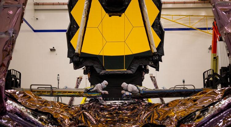 На сборке космического телескопа (истчоник изображения Northrop Grumman)