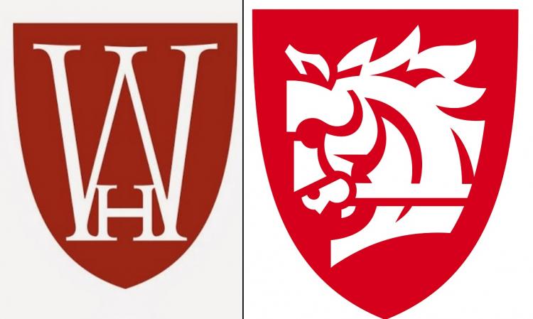 Старый (слева) и новый (справа) логотипы Warhorse Studios