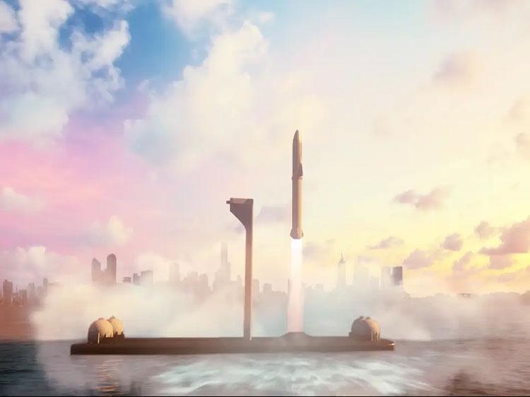 Илон Маск: SpaceX строит огромные плавучие космодромы для ракет сверхтяжёлого класса