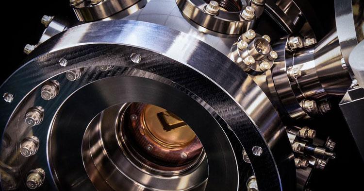 Рабочая камера квантового компьюетра компании Honeywell (на ловушках ионов)