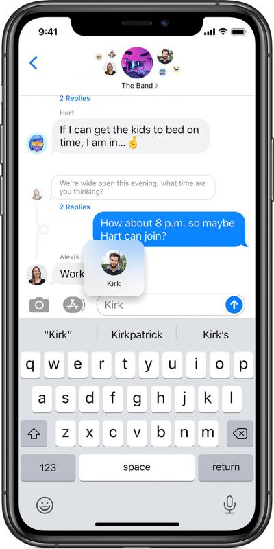 Закреплённые разговоры в Messages на iPhone 11 Pro
