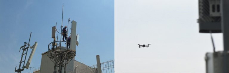 Традиционный способ (слева) / Новое решение на базе дронов и ИИ от Samsung