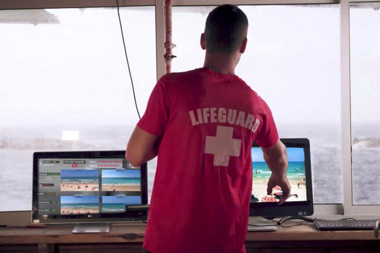 Работа спасателя и ИИ (Sightbit)