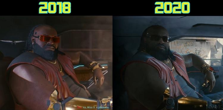 Сравнение Cyberpunk 2077 из трейлеров 2018 и 2020 года: улучшения налицо