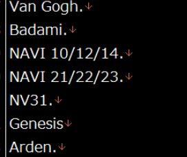 Упоминания Navi 31 (NV31), обнаруженные Komachi в декабре 2019 года