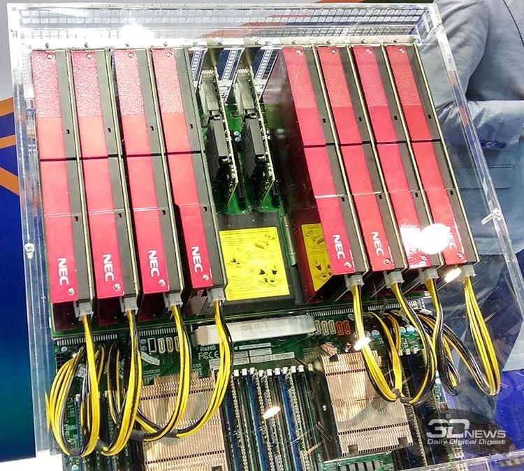 ISC 2018: HPC-модуль с восемью векторными ускорителями NEC SX-Aurora Type 10