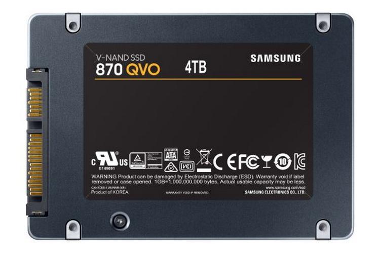 Samsung представила потребительские SSD-накопители 870 QVO объёмом до 8 Тбайт