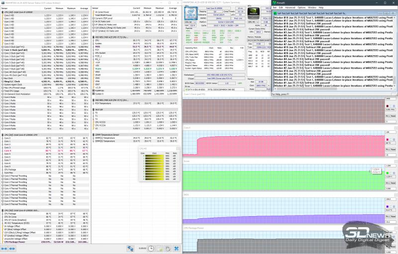 Разгон до 5,0 ГГц при 1,230 В (AVX выключены)