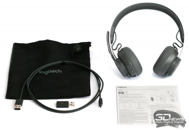 Комплект поставки гарнитуры Logitech Zone Wireless Plus