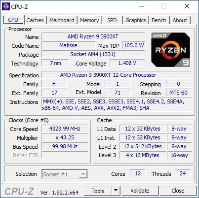 3900xt cpuz 1 Обзор процессоров AMD Ryzen 9 3900XT и Ryzen 7 3800XT: гримасы оптимизации 8