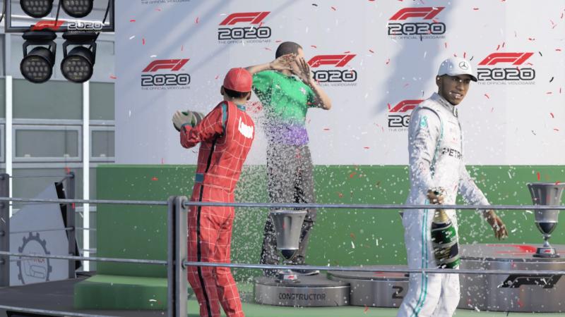 В следующей F1 хотелось бы увидеть полноценную мини-игру, посвящённую торжественному обливанию шампанским