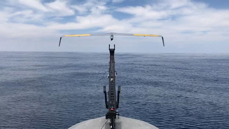 Запуск БПЛА с борта катера