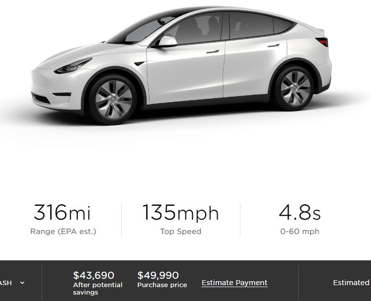 Tesla заметно снизила стоимость электрического кроссовера Model Y
