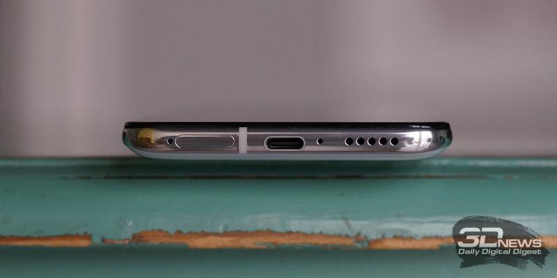 Xiaomi POCO F2 Pro, нижняя грань: слот для SIM-карт, порт USB Type-C, микрофон, основной динамик