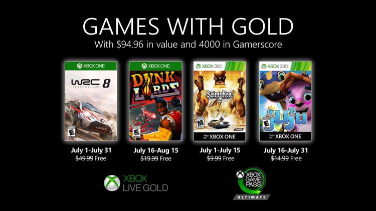 Помимо мультиплеера, Xbox Live Gold даёт доступ к четырём бесплатным играм в месяц