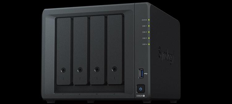 NAS-хранилище Synology DS920+ на базе Intel Celeron выходит на российский рынок