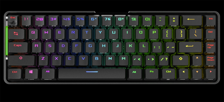 Беспроводная игровая клавиатура ASUS ROG Falchion имеет компактное исполнение