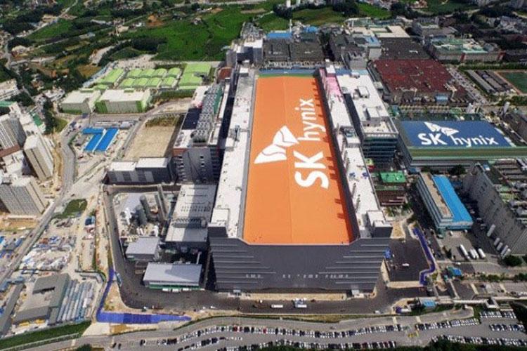 Вид на строительство завода M16 компании SK Hynix