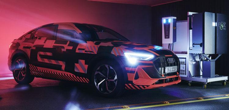 Стенд Audi по тестированию двунаправленной зарядной сети
