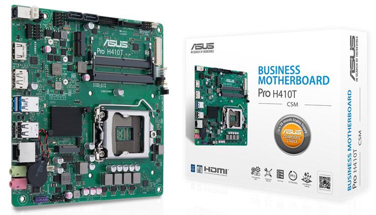 ASUS представила компактную плату Pro H410T для работающих круглосуточнокомпьютеров