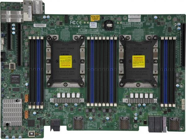 Основа новых СХД, системная плата X11DSC