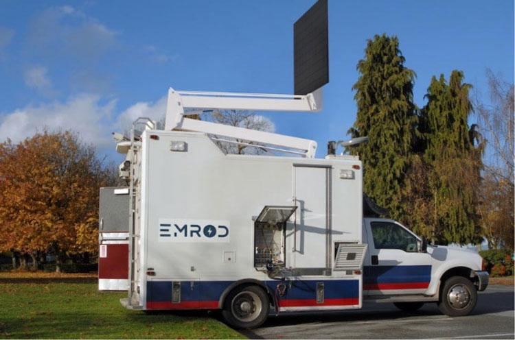 Мобильнй комплекс для передачи и приёма энергии без прводов (Emrod)