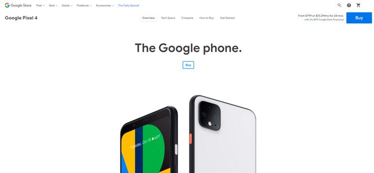 Google Pixel 4 пока ещё продаётся. Но надолго ли это?