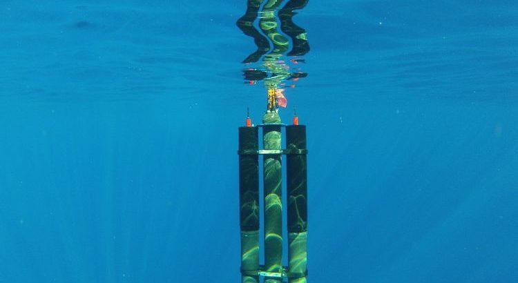Плавающая на поверхности часть морской термальной электростанции Seatrec
