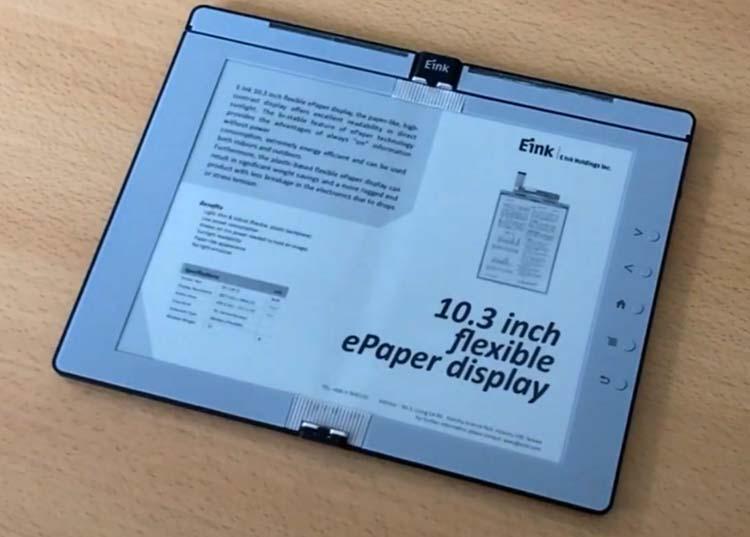 В проектируемом складном букридере E Ink можно будет делать рукописные заметки
