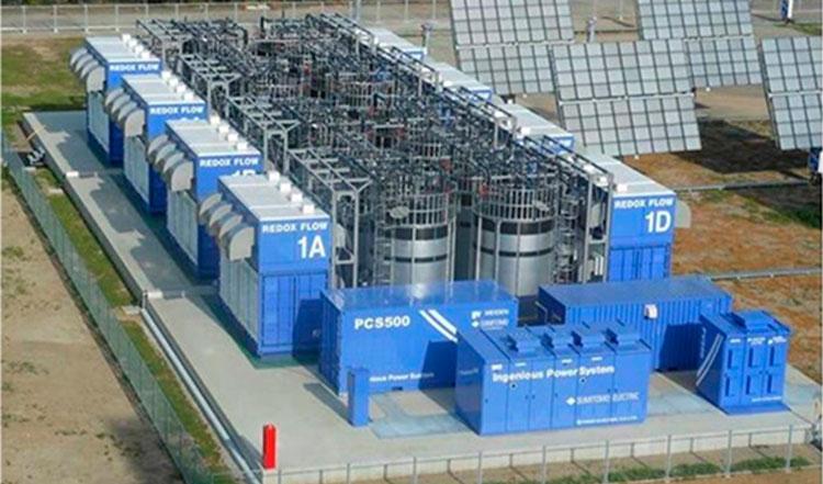Система резервного хранения энрегии на проточных редокс-батареях