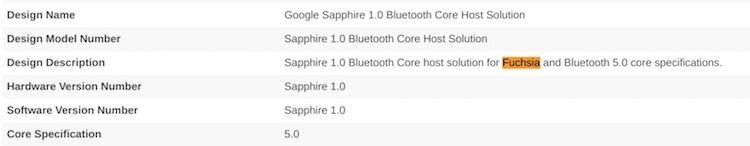 Bluetooth SIG сертифицировала операционную систему Fuchsia OS