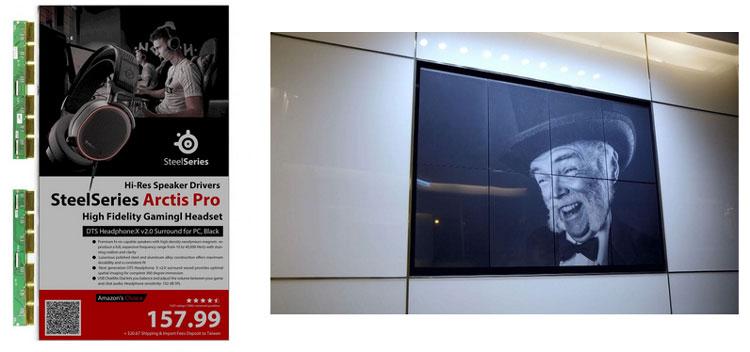 Китайцы и E Ink с размахом подошли к производству рекламных дисплеев на «электронных чернилах»