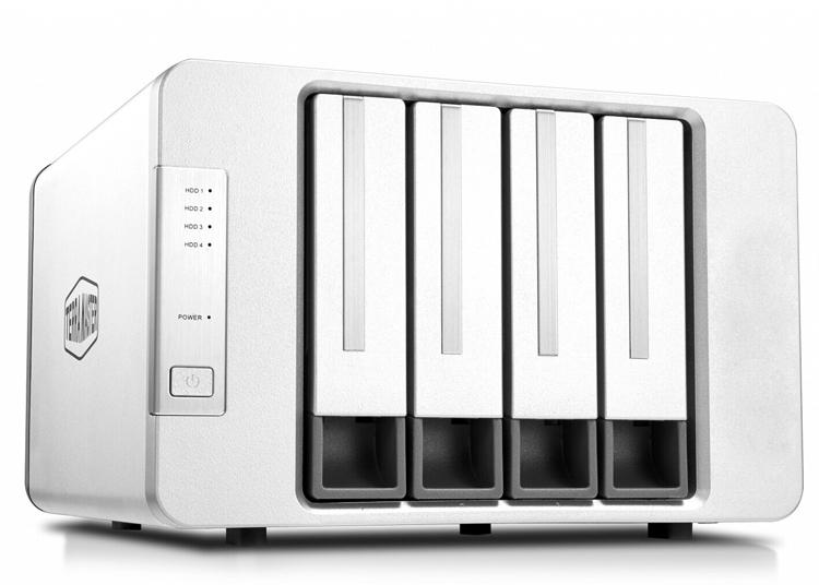 Корпус TerraMaster D4-300 позволяет создать хранилище данных из четырёх накопителей