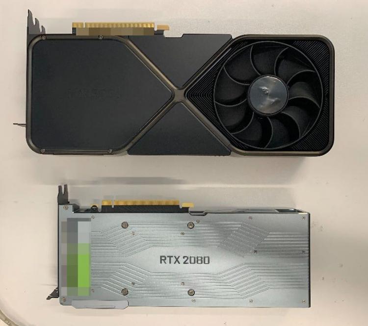 Задняя сторона GeForce RTX 3090