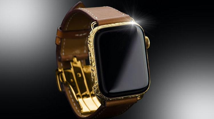 Неофициальные Apple Watch Series 5 Hermes в 24-каратном золотом корпусе