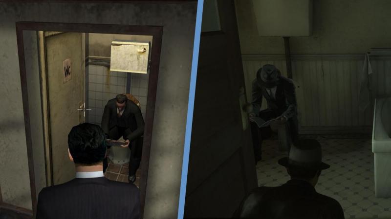 В ремейке гангстеры Морелло настолько суровы, что читают газету без света