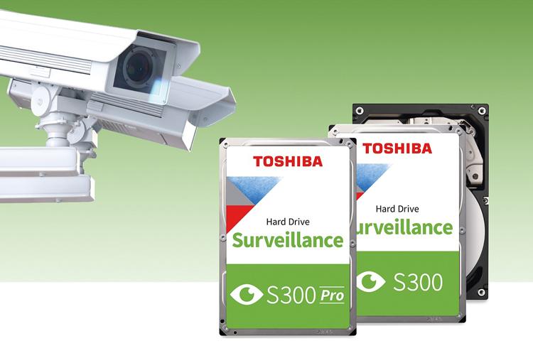 Доступные жёсткие диски Toshiba S300 для систем видеонаблюдения с черепичной записью