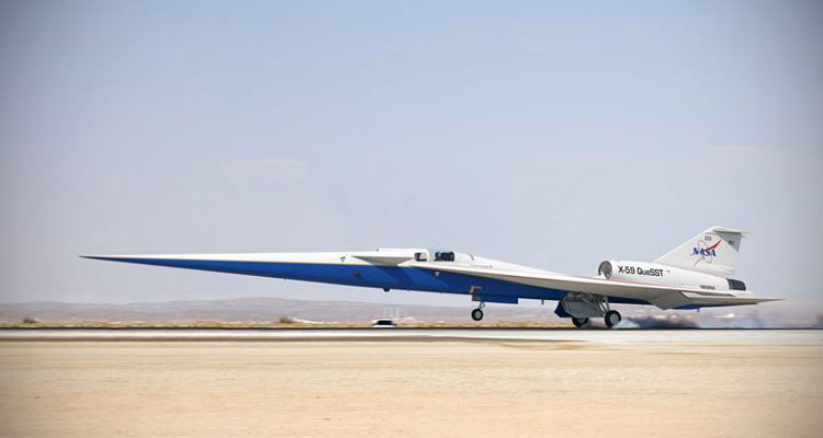 Low-Boom Flight Demonstrator (NASA X-59) в представлении художника