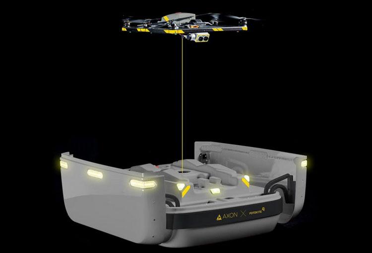 Система Axon Air использует разработку Fotokite