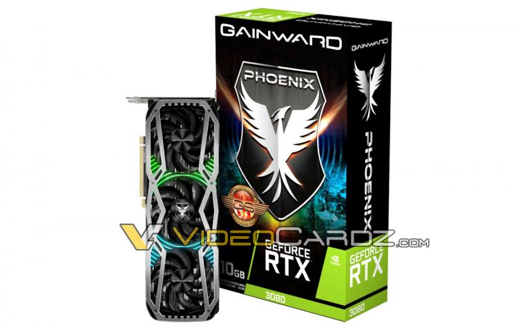 Видеокарты Gainward GeForce RTX 3000 серииPhoenix Golden Sample получат заводской разгон