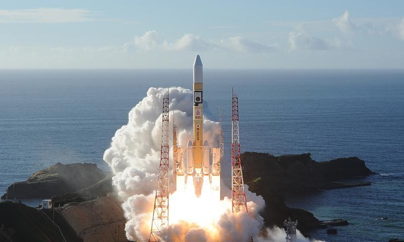 Старт ракеты H-IIA со станцией «Аль-Амаль». Фото AFP