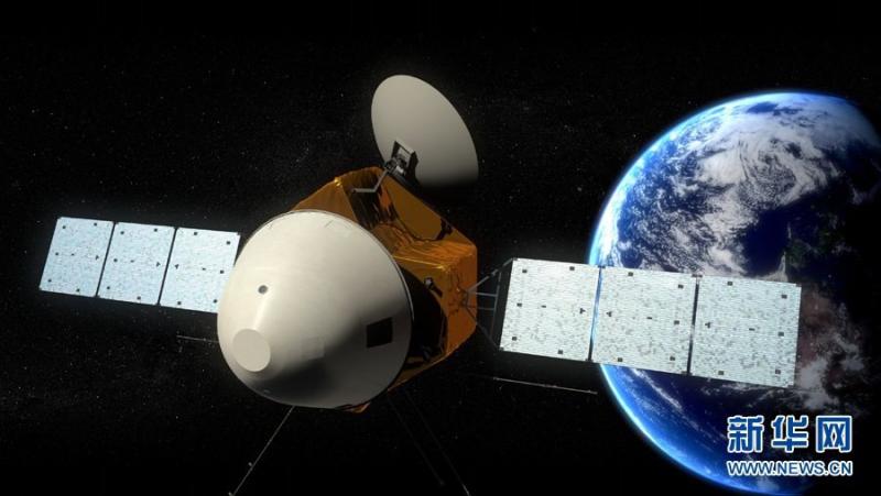 Межпланетная станция «Тяньвэнь-1» на траектории ухода от Земли. С сайта https://vk.com/chinaspaceflight