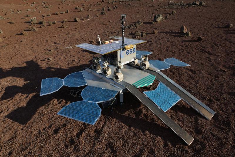 Европейский марсоход Rosalind Franklin на российской посадочной платформе «Казачок». Графика ЕКА