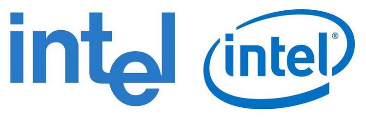 Первый логотип Intel (слева) был представлен в 1968 году, второй (справа) использовался компанией с 2006 года