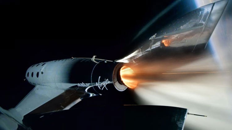 Первый выход корабля SpaceShipTwo под именем VSS Unity в космос