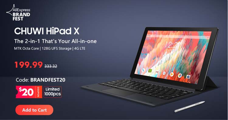 Chuwi предлагает скидки на мини-ПК LarkBox, планшет HiPad X и ноутбук GemiBook