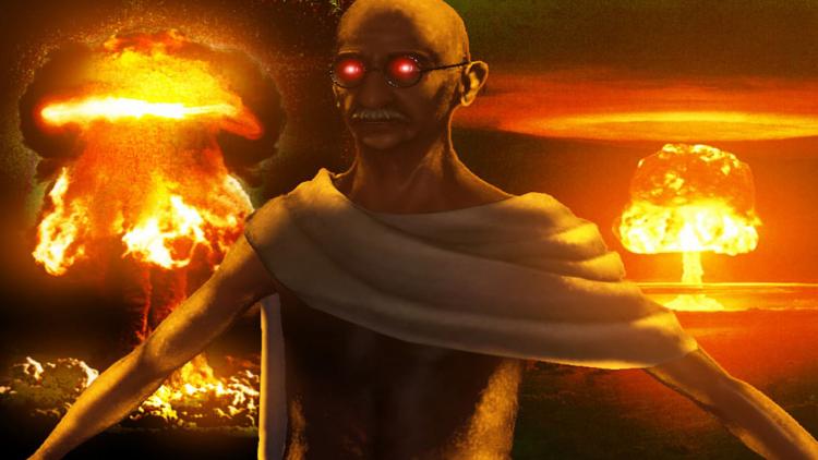 «Ядерный» Ганди успел стать объектом многочисленных шуток и мемов