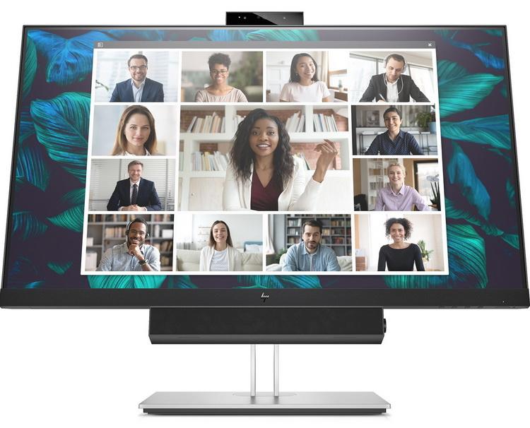HP представила мониторы для видеоконференций с выдвижной веб-камерой и саундбаром